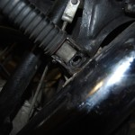 Underside of rear pillion attachment
